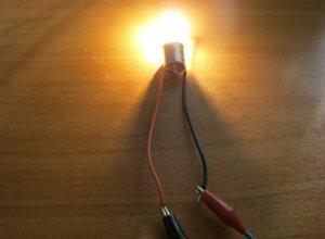 Проверка тока с помощью контрольной лампы