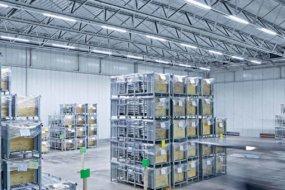 Светодиодное освещение склада: подбор, расчет и установка