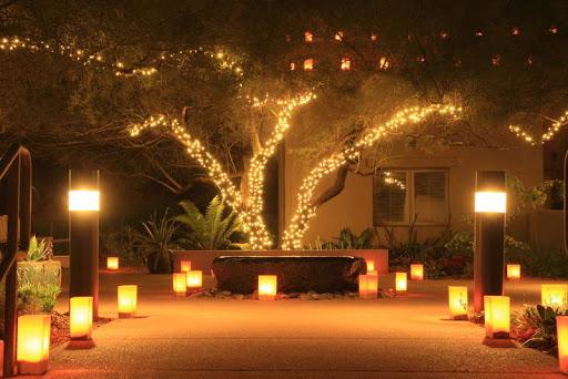 Освещение парковой зоны