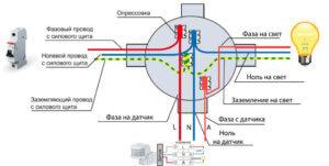 Схема подключение кабельных линий