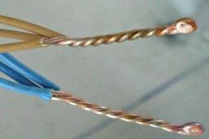 Соединение проводов сваркой