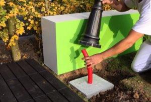 Цементная закладная для основания фонарного столба