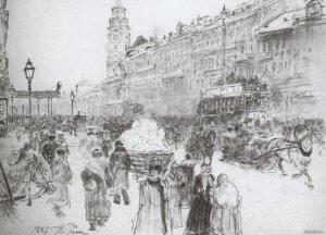первое освещение Невского проспекта