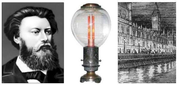 П.Н. Яблочков, фонарь (свеча)