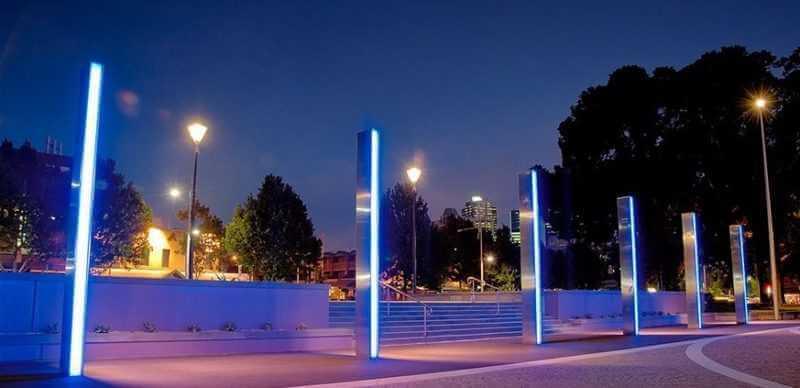 пример современного уличного освещения