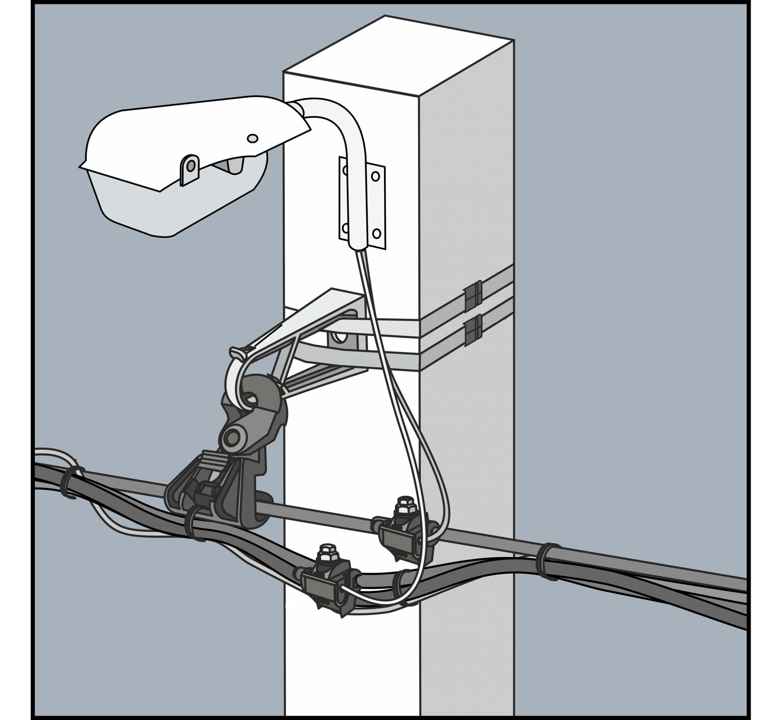 Подключение светильника к ВЛ