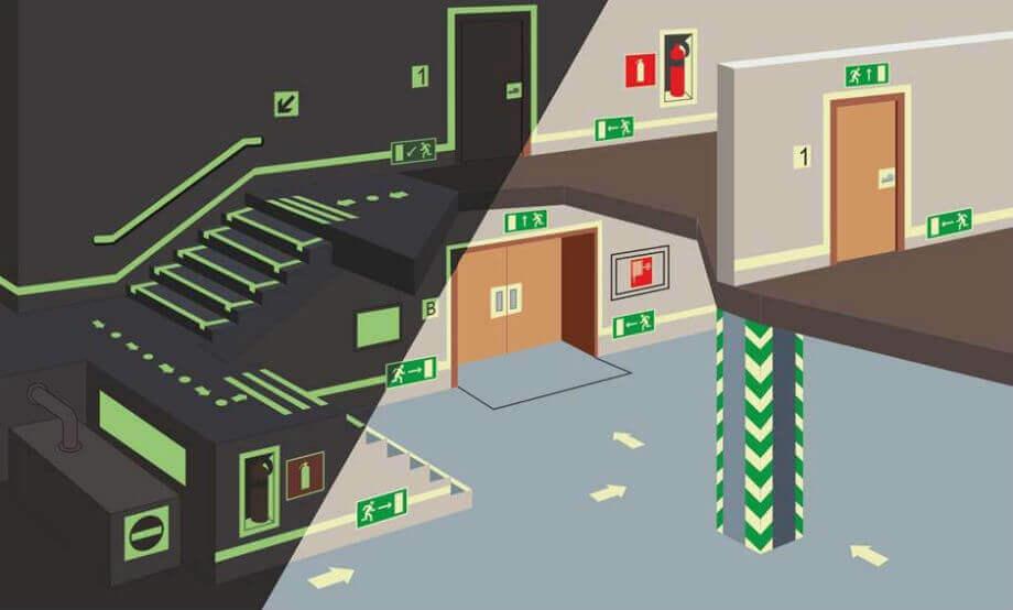 Освещения эвакуационного пути