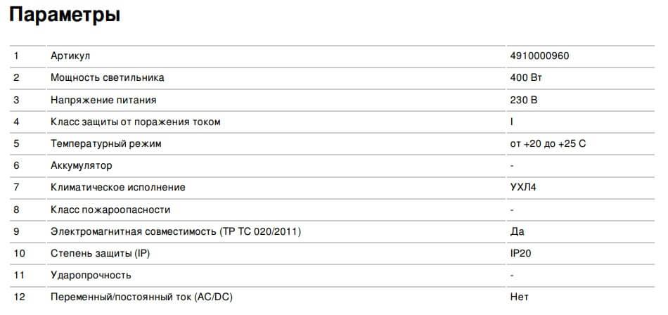 Параметры ИБП DIALOG 24-4-400-1H