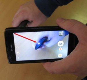 Проверка свечения инфракрасного светодиода при помощи камеры смартфона